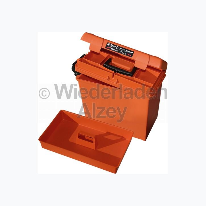MTM, wasser- und witterungsbeständige Transportbox mit 2 Einsätzen, Größe 38 x 23 x 33 cm, Orange, O-Ring gedichtet, Art.-Nr.: SPUD235