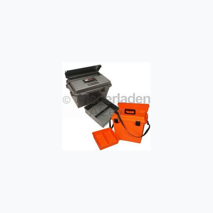 MTM, wasser- und witterungsbeständige Transportbox, Größe 47 x 33 x 25 cm, Schwarz, O-Ring gedichtet, herausnehmbares Innenteil, Art.-Nr.: SPUD-6-40