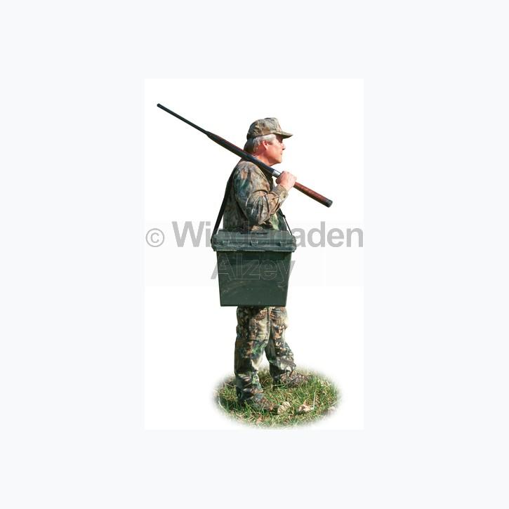 MTM, wasser- und witterungsbeständige Transportbox mit 2-geteilten Einsatz zum herausnehmen, Größe 47 x 33 x 38 cm, Grün, O-Ring gedichtet, Art.-Nr.: SPUD709