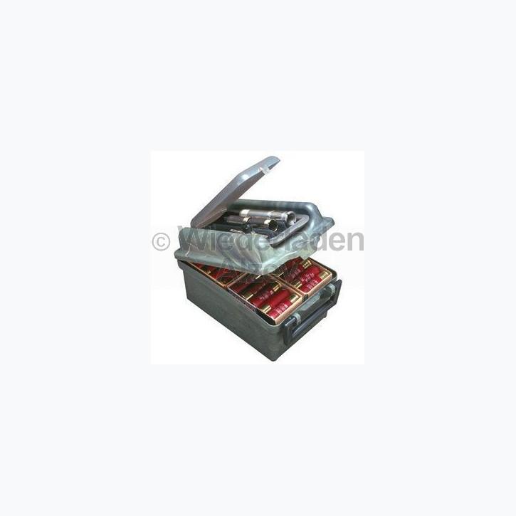 MTM, Aufbewahrungs- und Transportbox für 100 Schrotpatronen und Chokes, Größe 18 x 27 x 15 cm, Farbe Waldgrün, Art.-Nr.: SW-100-11