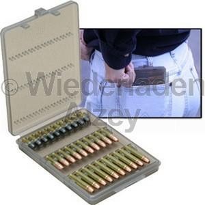 MTM, Patronenetui mit Klappdeckel für 30 Patronen .22 LR, rauch-klar, MTM Art.-Nr.: W30-22-41