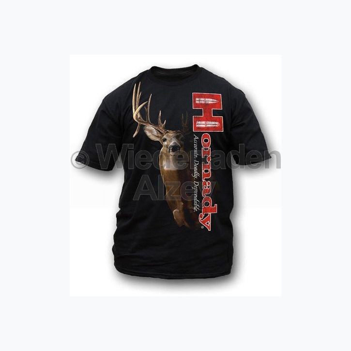 "Hornady T-Shirt  "" SHADOW WHITETAIL "" , Größe XL, Art.-Nr.: 91115184XL"