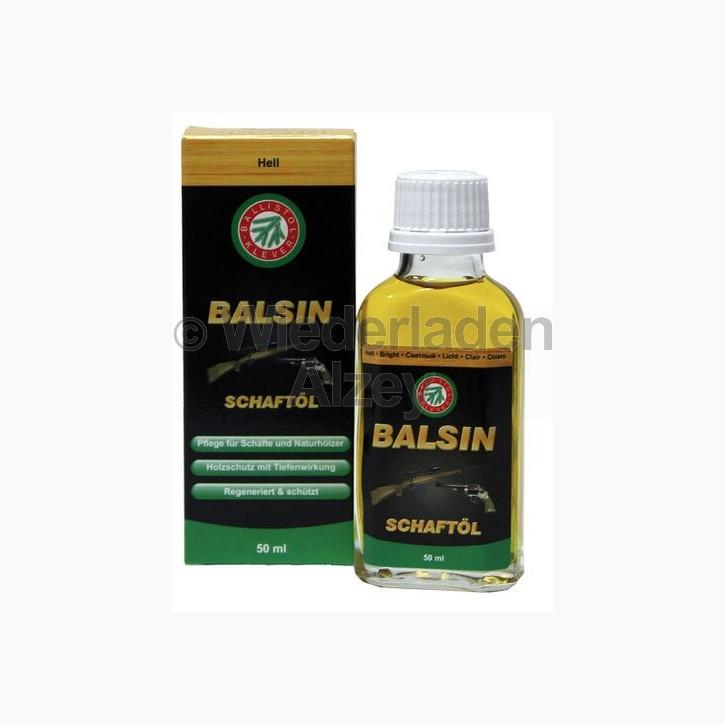 BALSIN Schaft- und Holzpflegeöl, Hell, Flasche mit 50 ml Inhalt