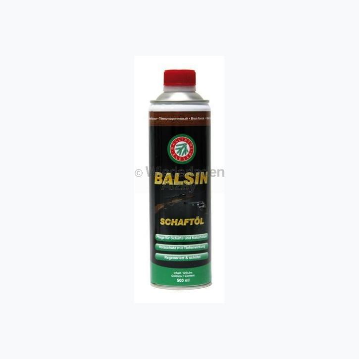 BALSIN Schaft- und Holzpflegeöl, Dunkelbraun, Flasche mit 500 ml Inhalt