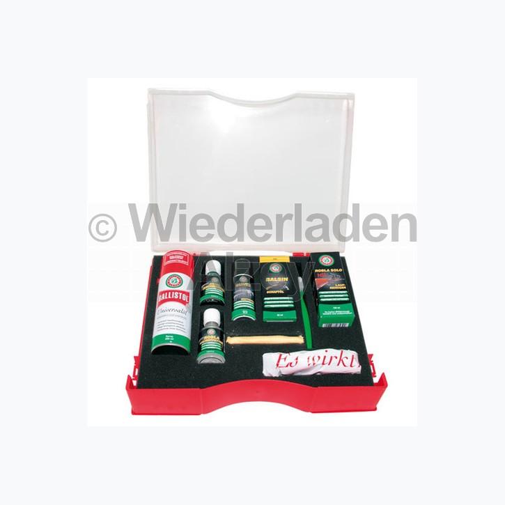 BALLISTOL-Set Waffenpflege, bestehend aus 12 Einzelteilen wie u. a. Universalöl, Schnellbrünierung, Kaltentferner, Schaftöl, u.s.w.