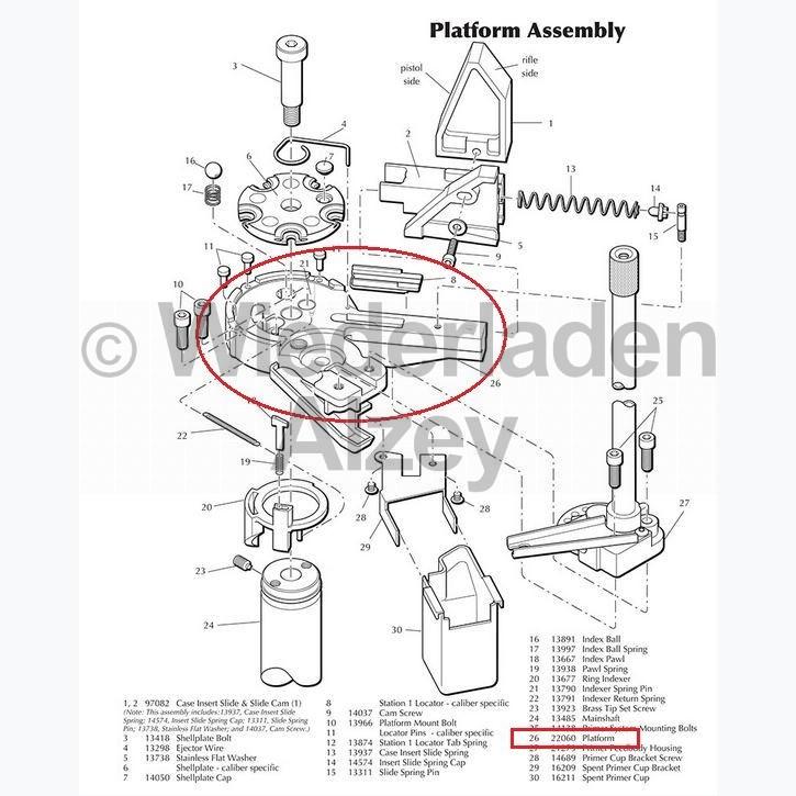 Dillon XL 650 / XL 750, Hülsenteller / Basis Plattform, Art.-Nr.: 22060