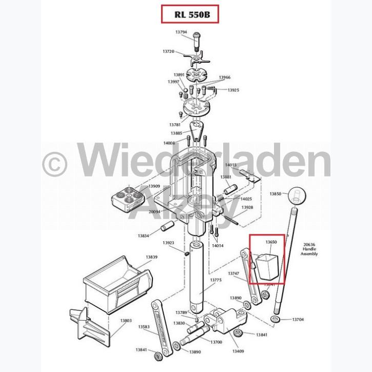 Dillon RL 550 Zündhütchen Auffangbehälter für verbrauchte Zündhütchen, Art.-Nr.: 13650