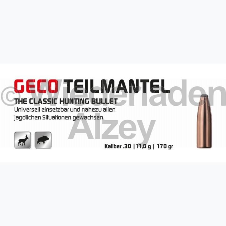 GECO Geschosse, .308, 170 grain, 11,0 g, Teilmantel