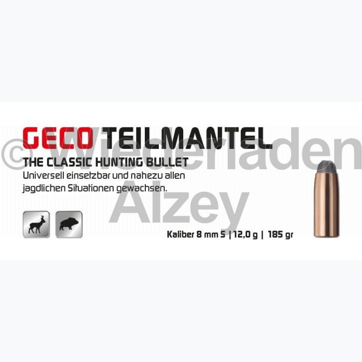 GECO Geschosse, .323, 185 grain, 12,0 g, Teilmantel-Rundkopf