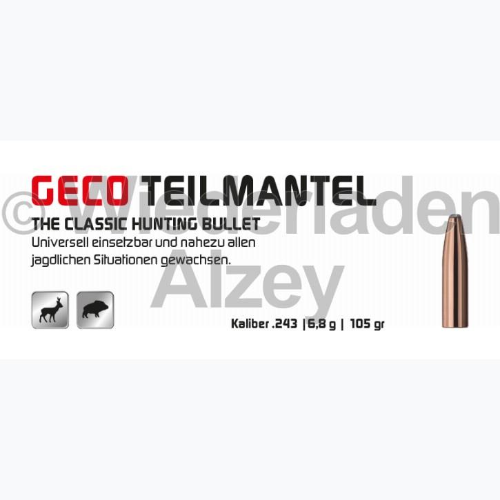 GECO Geschosse, .243, 105 grain, 6.8 g, Teilmantel