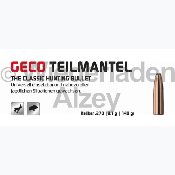 GECO Geschosse, .277, 140 grain, 9,1 g, Teilmantel