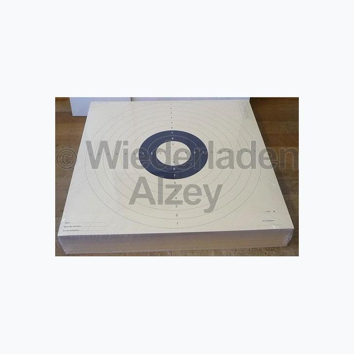 Mehrdistanz / BDS Scheibe, 55 x 52 cm, mit 4 Schlitze, fortlaufend nummeriert