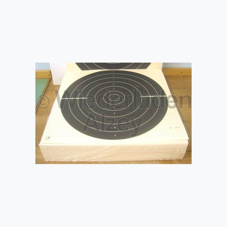 Kleinkaliberscheibe, Duell, 55 x 52 cm, mit 4 Schlitze, fortlaufend nummeriert
