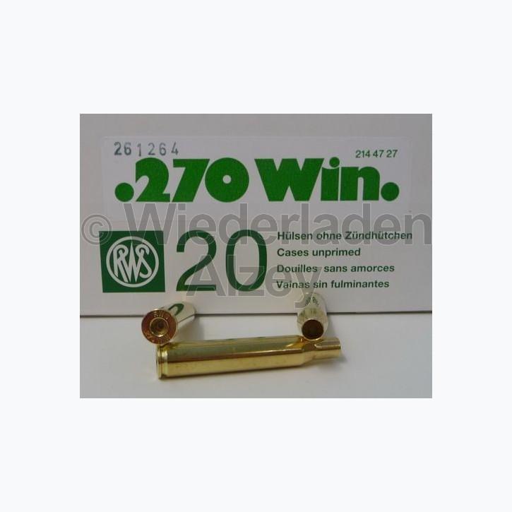 .270 Win. RWS Hülsen, neutrale Verpackung
