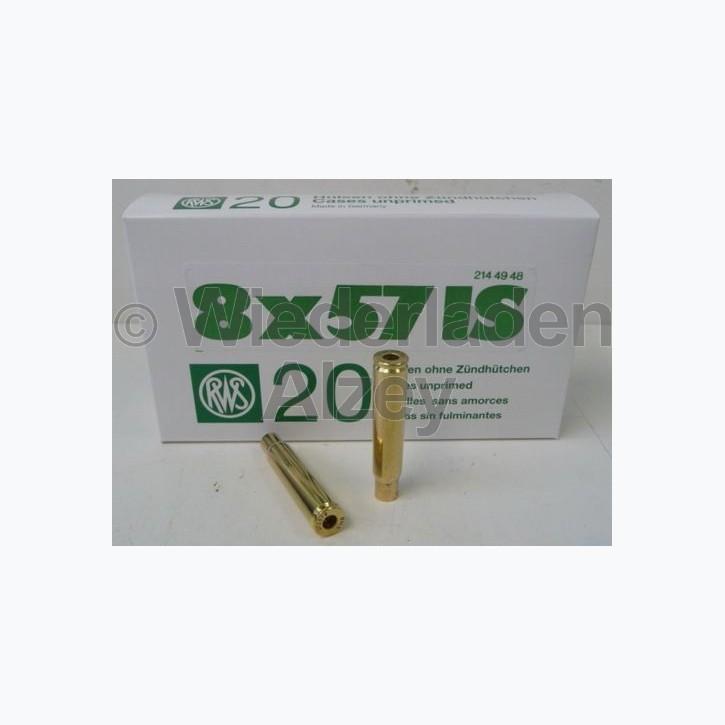 8 x 57 JS RWS Hülsen, neutrale Verpackung