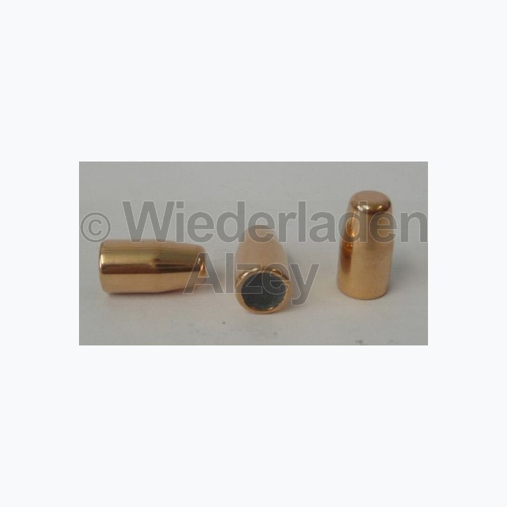 .357, 158 grain, GECO Geschosse, Vollmantel Flachkopf, Art.-Nr.: 2318155, neutrale Verpackung