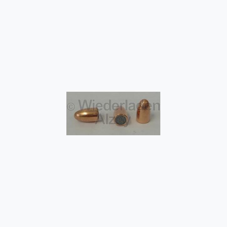 .355, 124 grain, GECO Geschosse, Vollmantel Rundkopf, Art.-Nr.: 2400401