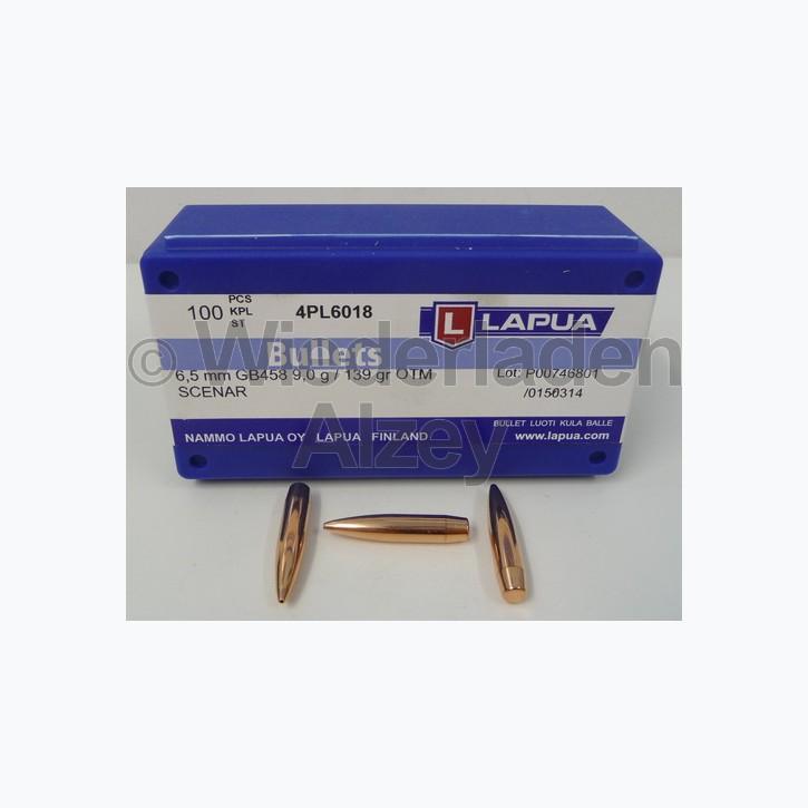 Lapua Geschosse, .264 / 6,5 mm, 139 grain, HPBT, Scenar, GB458