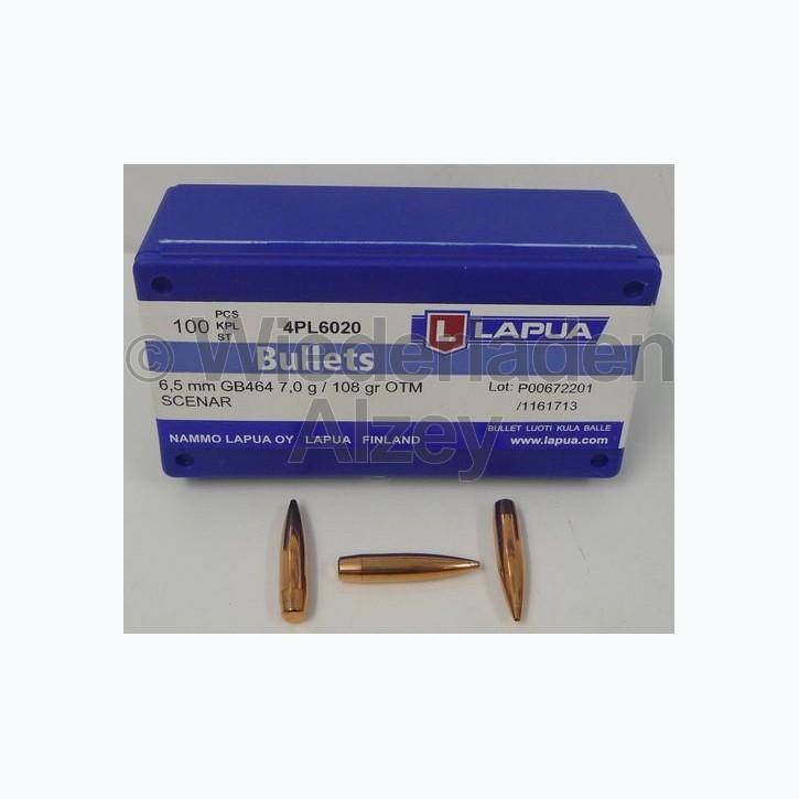Lapua Geschosse, .264 / 6,5 mm, 108 grain, HPBT, Scenar, GB464
