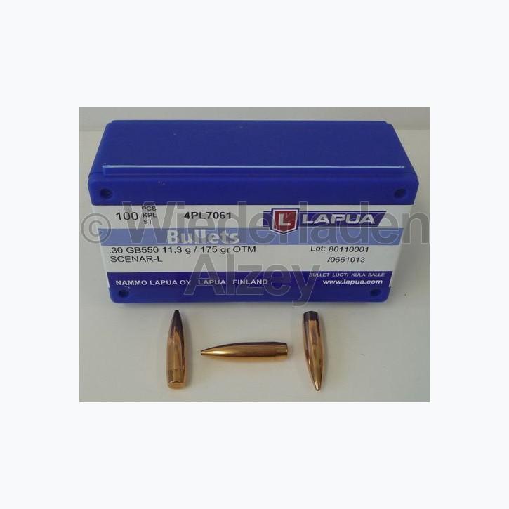 Lapua Geschosse, .308, 175 grain, HPBT, Scenar L, GB550, Wettkampfgeschosse