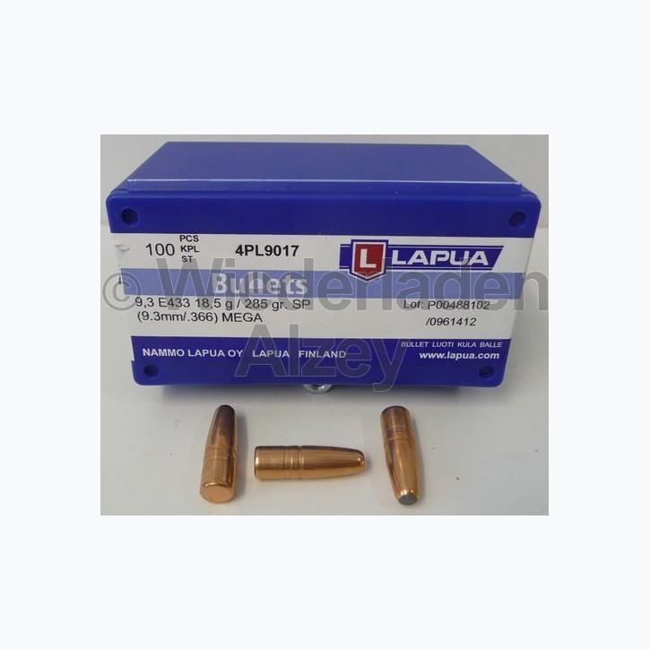 Lapua Geschosse, .366 / 9,3 mm, 285 grain, TM-Mega, E433