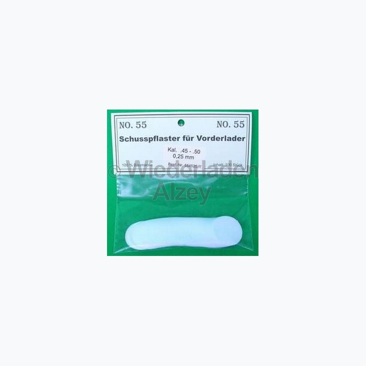 .36 - .41, 0,55 mm dick, 100 Stück