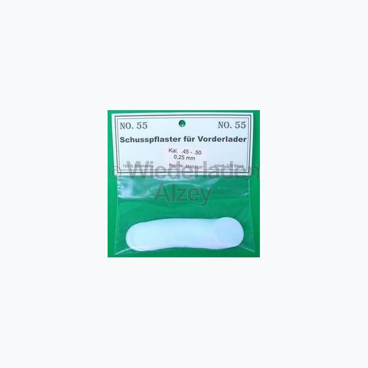 .45 - .50, 0,25 mm dick, 100 Stück