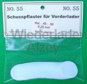 .54 - .58, 0,55 mm dick, 100 Stück