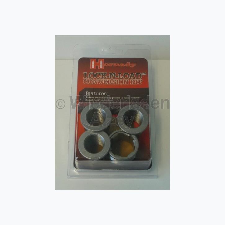 Hornady 1 Schnellwechsel Gewindeeinsatz für in Presse und 3 Schnellwechsel Adapter