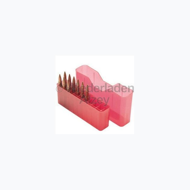 20er MTM Patronenbox, Stülpdeckel, rot, Größe RM, für .220 Swift, .243 Win., ...