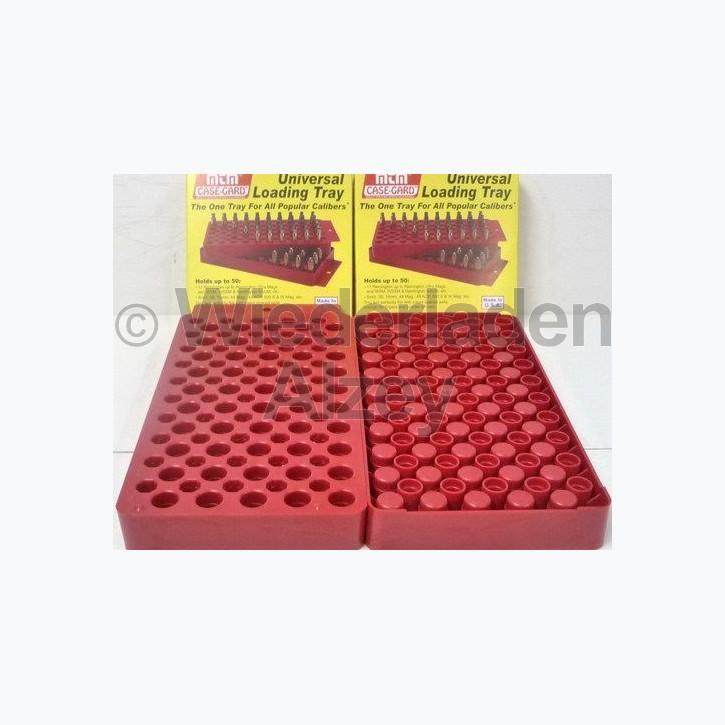 MTM Universal Ladebrett für 50 Patronen, ca. 14 x 19 cm, rot, Art.-Nr.: LT150M