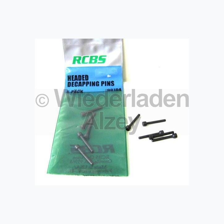 RCBS Ausstoßerstifte, mit Kopf (neu), 1 x 5 Stück, Art.-Nr.: 90164
