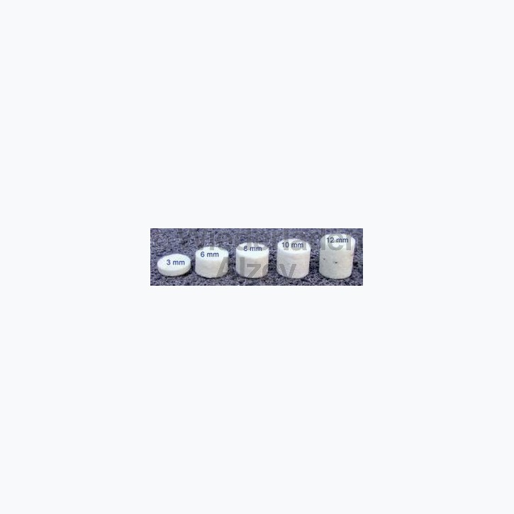 Dämmfilze, .36, Stärke 3 mm, 200 Stück pro Verpackung