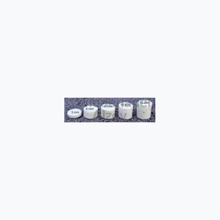 Dämmfilze, .36, Stärke 8 mm, 200 Stück pro Verpackung