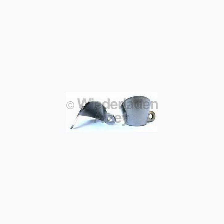 Feuerschirm für Steinschlossmusketen, ohne Gravur, Stahl, 2-Pkt.-befestigung, Art.-Nr.. FG2P-I