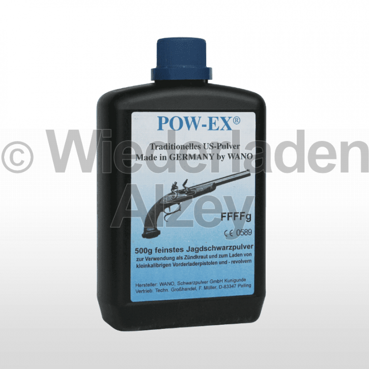 POW-EX Schwarzpulver FFFFg, Dose mit 500 Gramm