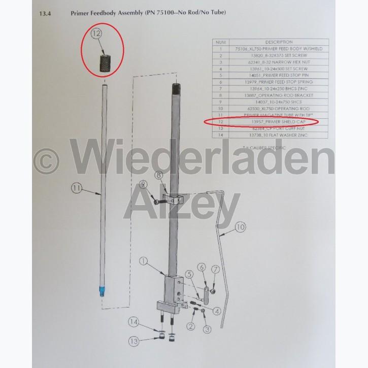 Dillon XL 650 / XL 750, Mutter für Zündhütchen Magazinaussenrohr - Primer Shield Cap, Art.-Nr.: 13957