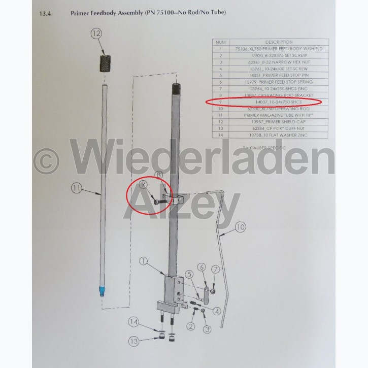 Dillon, Schraube - Screw 10-24x750 SHCS, Art.-Nr.: 14037