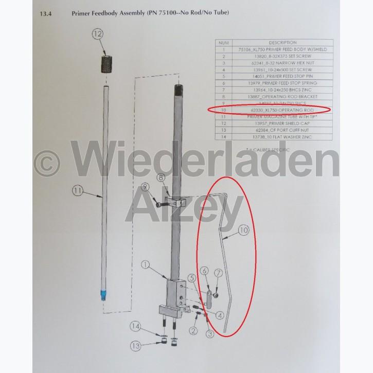 Dillon XL 750, Betätigungsstange - Operating Rod, Art.-Nr.: 62330