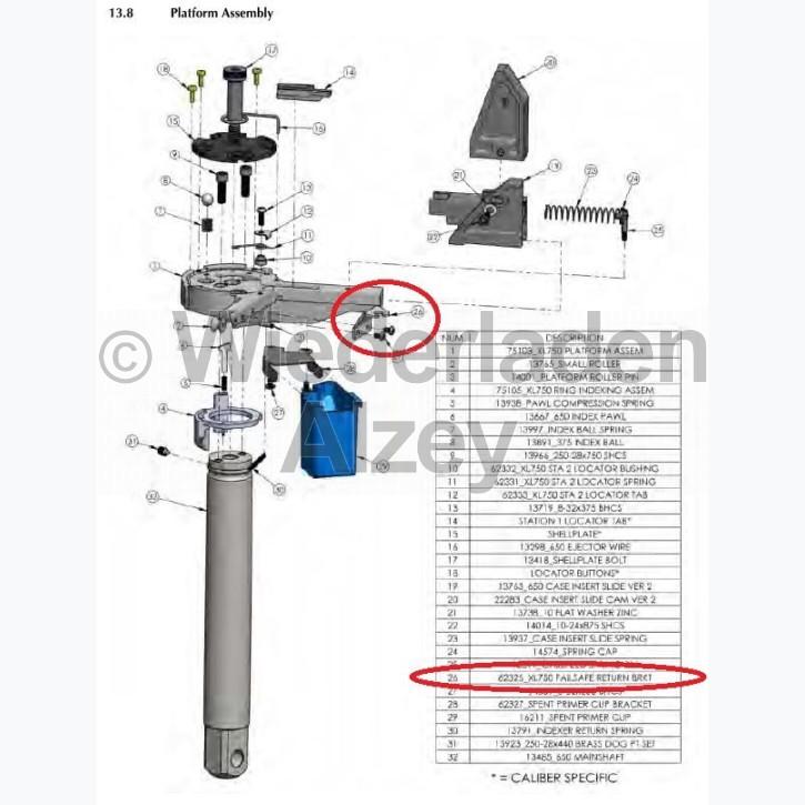 Dillon XL 750, Halter für Zwangssteuergestänge - Failsafe Return ERKT, Art.-Nr.: 62325