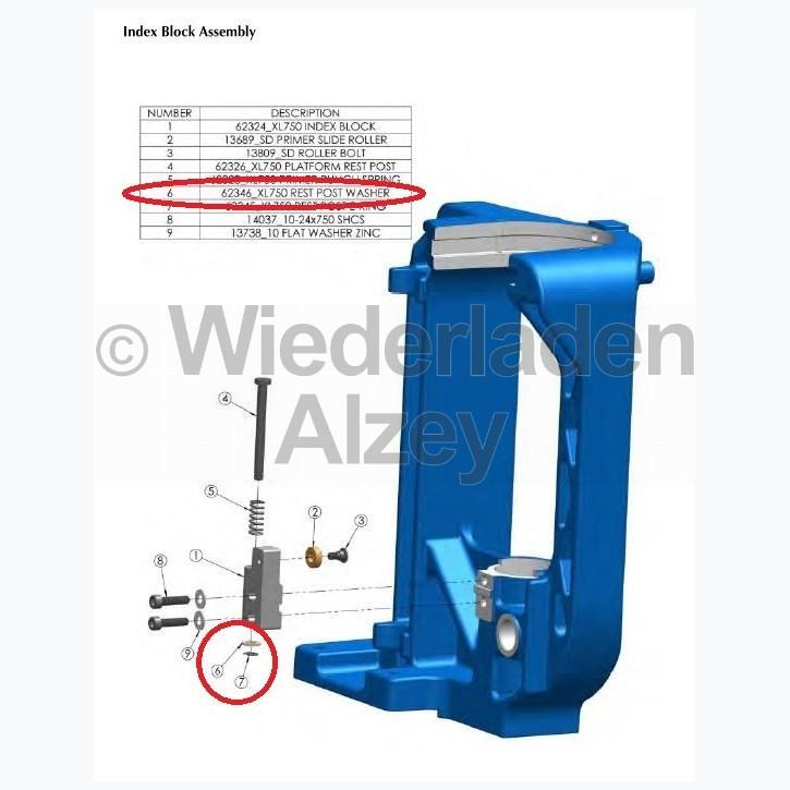 Dillon XL 750, Unterlagscheibe - Rest Post Washer, Art.-Nr.: 62346