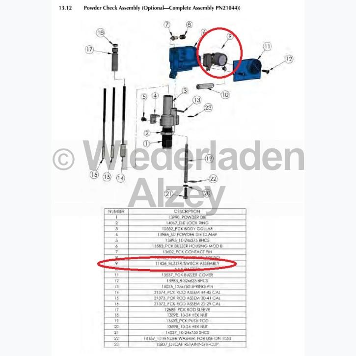 Dillon XL 650 / XL 750, Summer und Mikroschalter kpl. - Buzzer/Switch, Assy, Art.-Nr.: 11426
