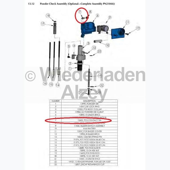 Dillon XL 650 / XL 750, Kontaktstift - Contact Pin, Art.-Nr.: 13602