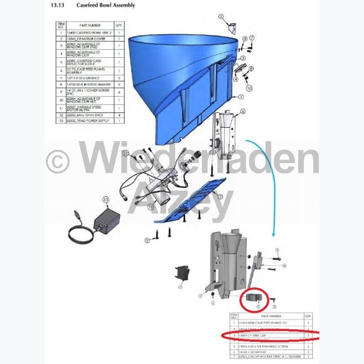 Dillon XL 650 / XL 750, Halteklammer - Tube Clip, Art.-Nr.: 13859