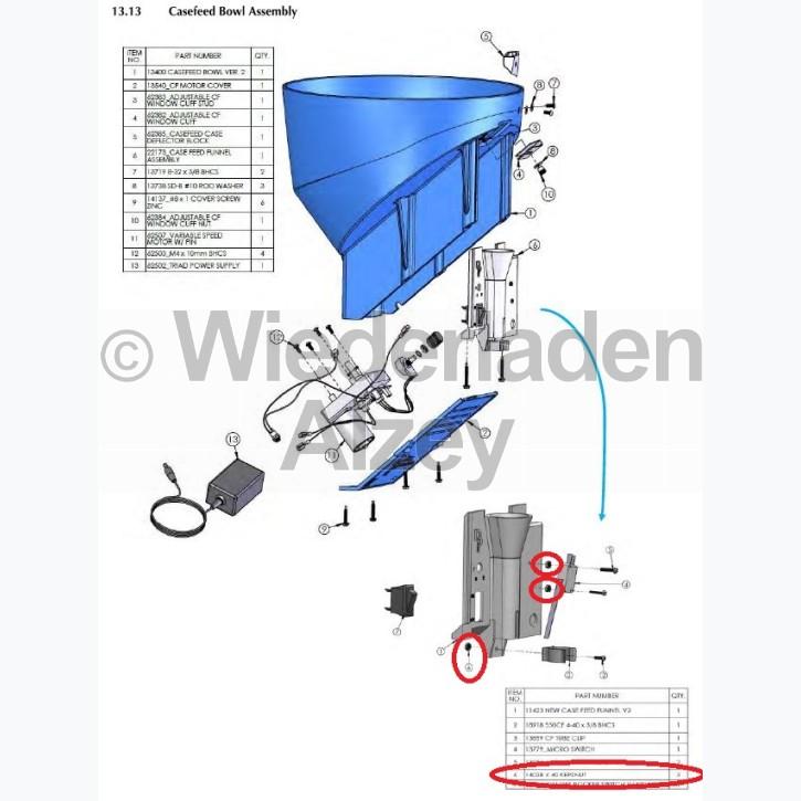 Dillon XL 650 / XL 750, 6-Kantmutter für Mikroschalter - 4-40 Kepsnut, Art.-Nr.: 14038