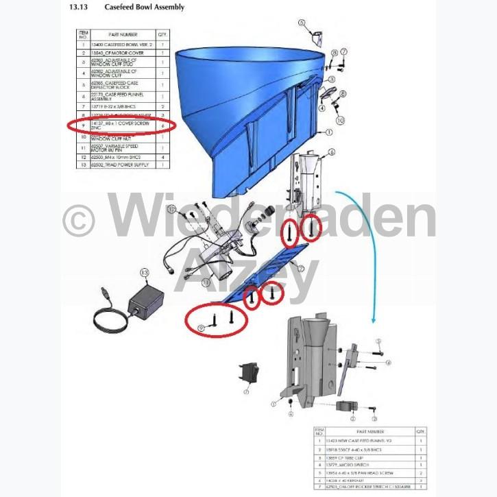 Dillon XL 750, Schraube - 8x1 Cover Screw Zinc, Art.-Nr.: 14137