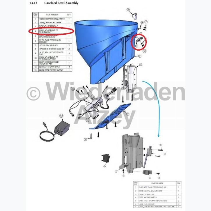 Dillon XL 750, verstellbare Manschette - Adjustable CF Window Cuff, Art.-Nr.: 62382
