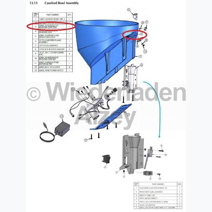Dillon XL 750, Knopf für verstellbare Manschette - Adjustable CF Window cuff Stud, Art.-Nr.: 62383