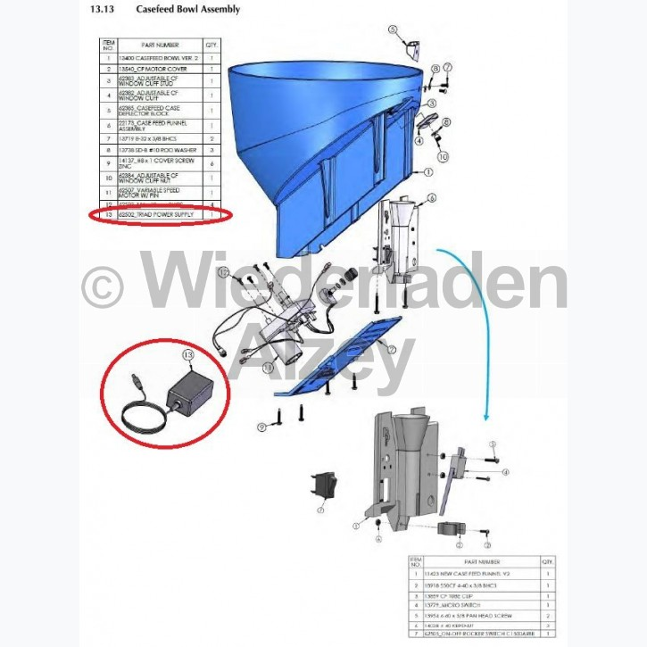 Dillon XL 750, Netzteil - Triad Power Supply, Art.-Nr.: 62502