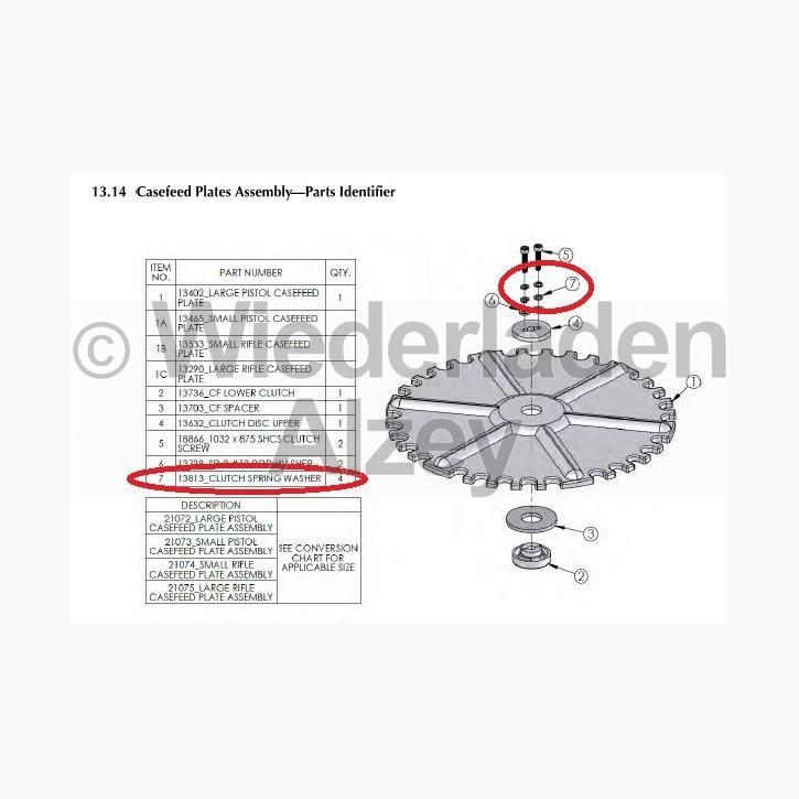 Dillon XL 750, Federring für Kupplungsteile - Clutch Spring Washer, Art.-Nr.: 13813